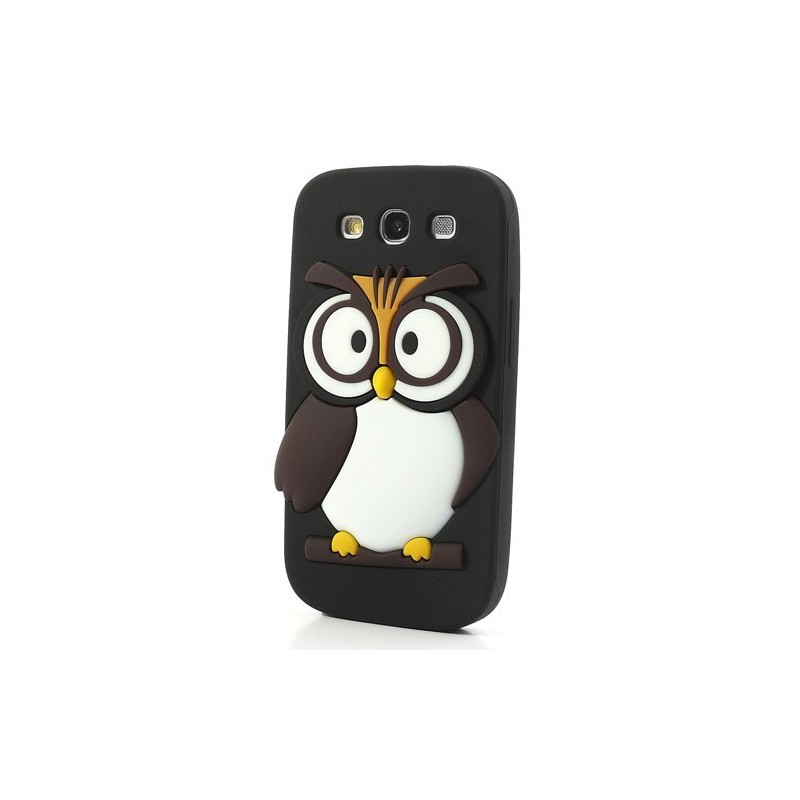 Galaxy S3 musta pöllö silikonisuojus.