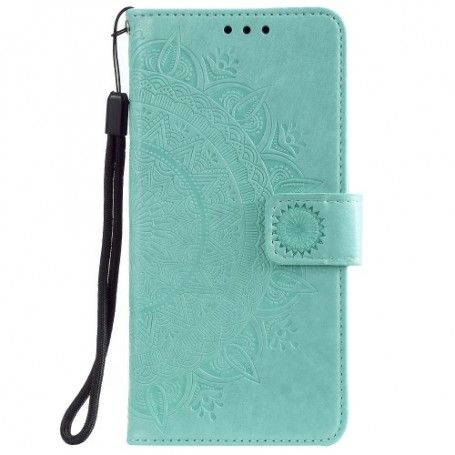 Samsung Galaxy A51 mintunvihreä mandala suojakotelo