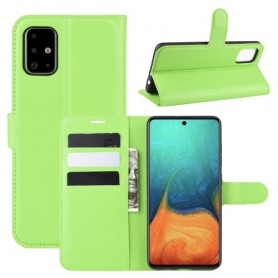 Samsung Galaxy A71 vihreä suojakotelo