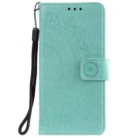 Samsung Galaxy A71 mintunvihreä mandala suojakotelo