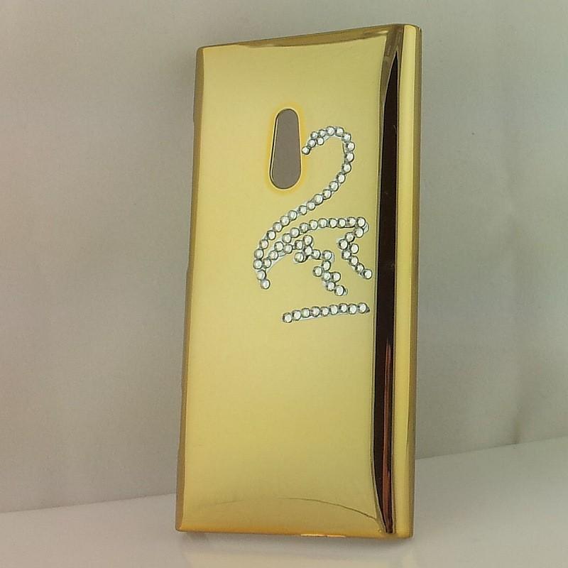 Lumia 800 kullan värinen timanttijoutsen suojakuori.