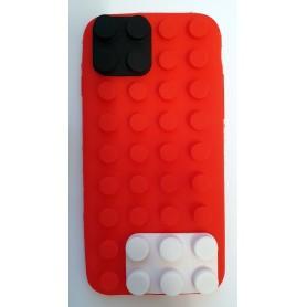 iPhone 6 punainen rakennuspalikat silikonisuojus.