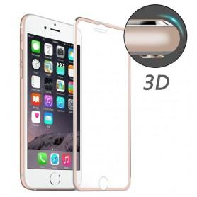 iPhone 7 / 8 kirkas panssarilasi ruusukulta alumiinireunukset
