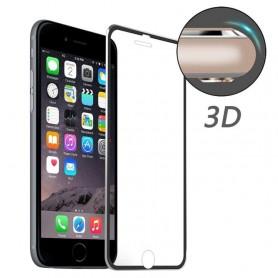 iPhone 7/8/SE 2020 kirkas panssarilasi mustat alumiinireunukset