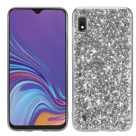 Samsung Galaxy A10 hopea glitter suojakuori
