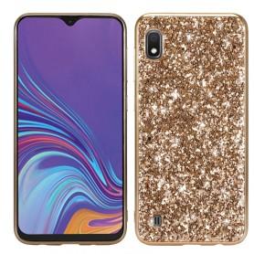 Samsung Galaxy A10 kullanvärinen glitter suojakuori