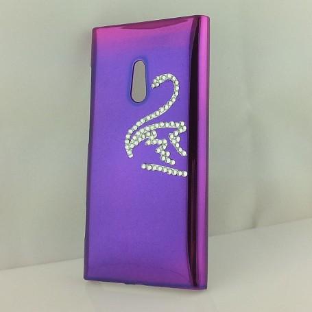 Lumia 800 violetti timanttijoutsen suojakuori.