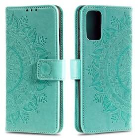 Samsung Galaxy S20 Plus mintunvihreä mandala suojakotelo
