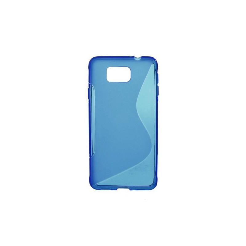 Galaxy Alpha sininen silikonisuojus.