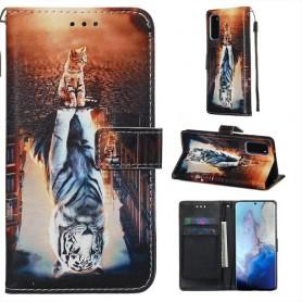 Samsung Galaxy S20 kissa ja tiikeri suojakotelo