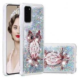 Samsung Galaxy S20 glitter hile pöllö suojakuori