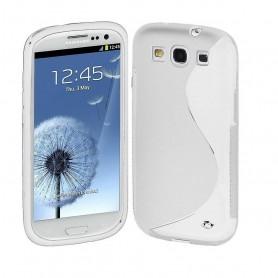 Galaxy S3 läpinäkyvä suojakuori.