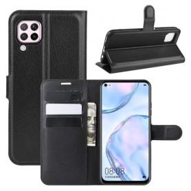 Huawei P40 Lite musta suojakotelo