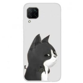 Huawei P40 Lite läpinäkyvä kissa suojakuori