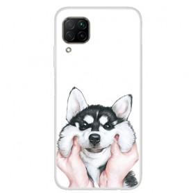 Huawei P40 Lite läpinäkyvä koira suojakuori