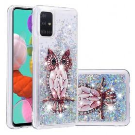 Samsung Galaxy A51 glitter hile pöllö suojakuori