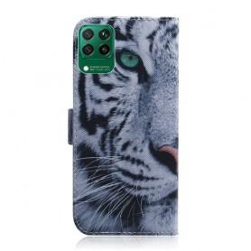 Huawei P40 Lite valkoinen tiikeri suojakotelo