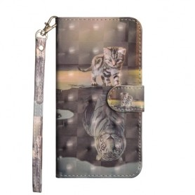 Huawei P40 Lite kissa ja tiikeri suojakotelo