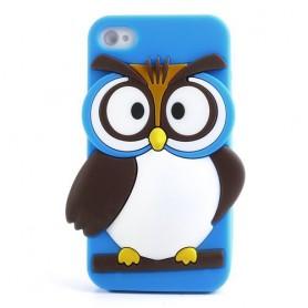 iPhone 4s sininen pöllö silikonisuojus.