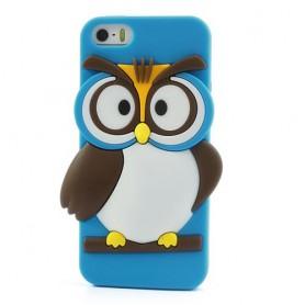 iPhone 5s sininen pöllö silikonisuojus.