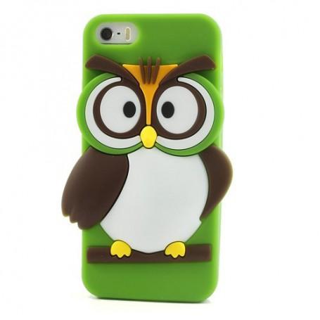 iPhone 5s vihreä pöllö silikonisuojus.