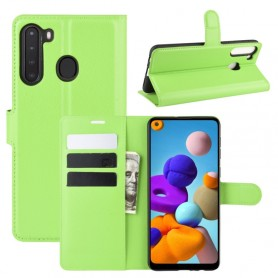 Samsung Galaxy A21 vihreä suojakotelo