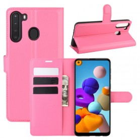 Samsung Galaxy A21 pinkki suojakotelo