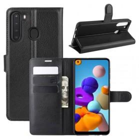 Samsung Galaxy A21 musta suojakotelo