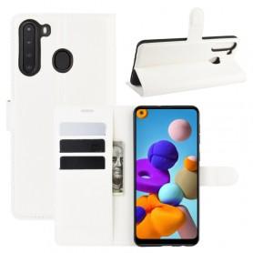 Samsung Galaxy A21 valkoinen suojakotelo