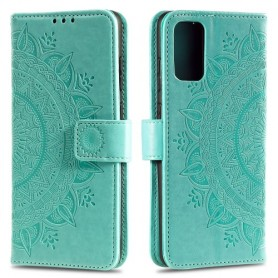 Samsung Galaxy A41 mintunvihreä mandala suojakotelo