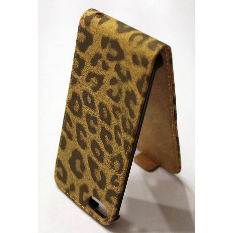 iPhone 5 ruskea leopardi läppäkuori.
