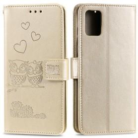 Samsung Galaxy A41 kullanvärinen pöllöt suojakotelo