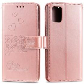 Samsung Galaxy A41 ruusukulta pöllöt suojakotelo