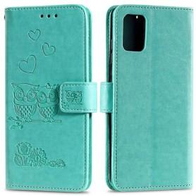 Samsung Galaxy A41 mintunvihreä pöllöt suojakotelo