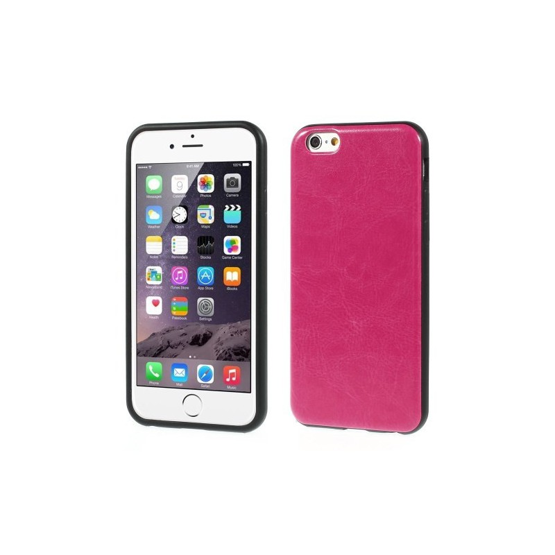iPhone 6 hot pink nahkakuori.