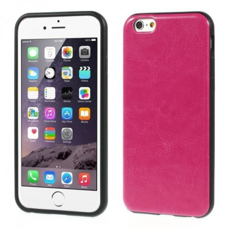 iPhone 6 hot pink nahkakuori.