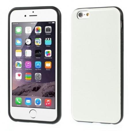 iPhone 6 valkoinen nahkakuori.