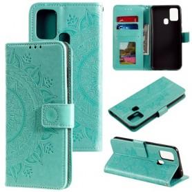 Samsung Galaxy A21s mintunvihreä mandala suojakotelo