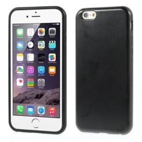 iPhone 6 musta nahkakuori.