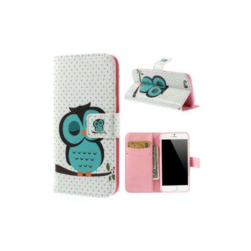 iPhone 6 vihreä pöllö puhelinlompakko