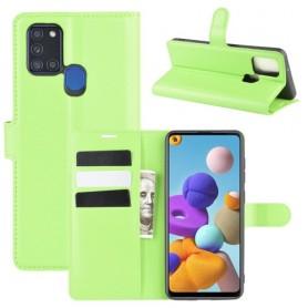 Samsung Galaxy A21s vihreä suojakotelo
