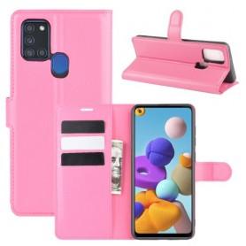 Samsung Galaxy A21s pinkki suojakotelo