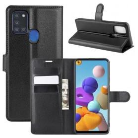 Samsung Galaxy A21s musta suojakotelo