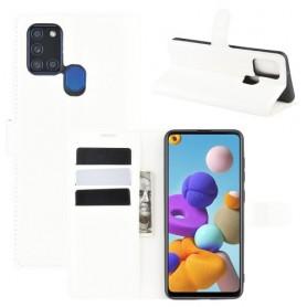 Samsung Galaxy A21s valkoinen suojakotelo