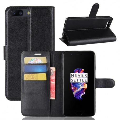 OnePlus 5 musta puhelinlompakko