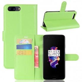 OnePlus 5 vihreä puhelinlompakko