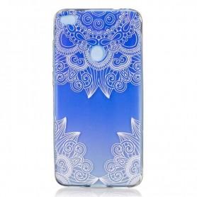 Huawei P8 Lite sininen kukka suojakuori.