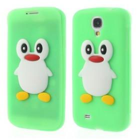Galaxy Trend vihreä kannellinen pingviini silikonisuojus.