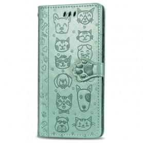 iPhone 11 Pro mintunvihreä kissa ja koira suojakotelo