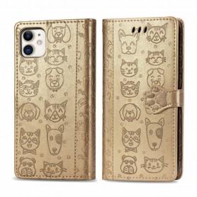 iPhone 11 kullanvärinen kissa ja koira suojakotelo